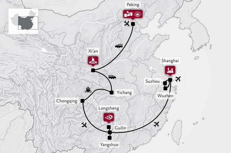 Leidhold Reisen - Ihr Reisebüro - China zu Land und zu Wasser